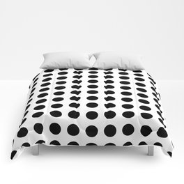 Simply Polka Dots in Midnight Black Comforters