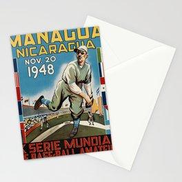 retro managua nicaragua x serie mundial de base - ball amateur. 1948 Stationery Cards
