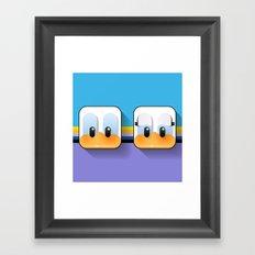 daisy and donald sweetheart ducks Framed Art Print