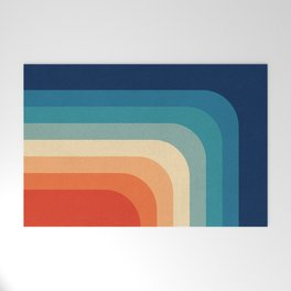 Retro 70s Color Palette III Welcome Mat