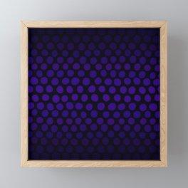 Purple Eggplant Ombre Dots Framed Mini Art Print