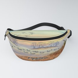 Goose Hunting Season Colorful Painting Fanny Pack