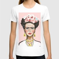 frida kahlo T-shirts featuring Frida Kahlo by devinepaintings