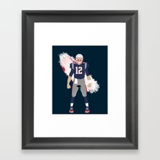 Pats - Tom Brady Framed Art Print