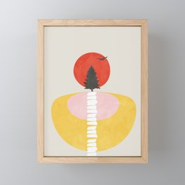 Modern shapes 8 Framed Mini Art Print