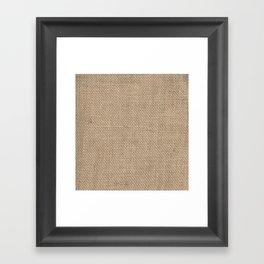 Burlap Texture Framed Art Print