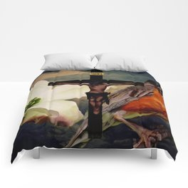 Legend of the Dogwood - Easter Robin Crucifix Religious Art A510 Comforters