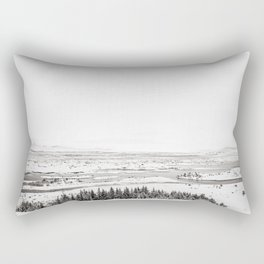 Thingvellir National Park-White Winter Rectangular Pillow