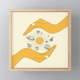 The Universe in Your Hands Framed Mini Art Print