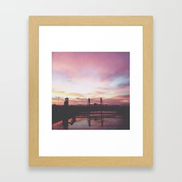 Steel Bridge Sunrise Framed Art Print