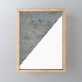 Concrete Vs White Framed Mini Art Print