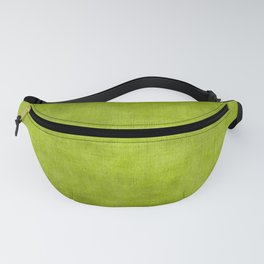 """Summer Fresh Green Garden Burlap Texture"" Fanny Pack"