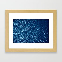 Water surface abstract Framed Art Print
