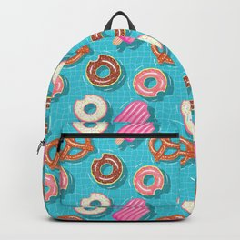 Poolparty doughnuts, pretzel,lollies Backpack