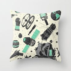 Space Funk Throw Pillow