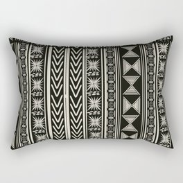 Boho Mud cloth (Black and White) Rectangular Pillow