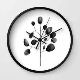 Watercolor Leaves Wall Clock
