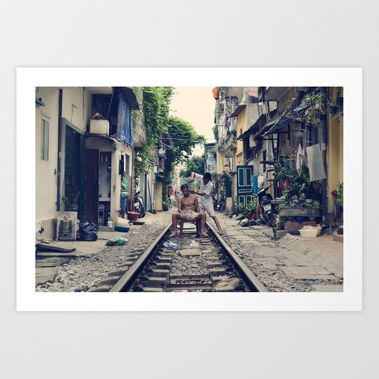 Hanoi Haircut Art Print