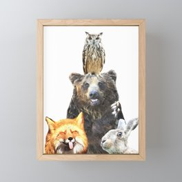 Woodland Animal Friends Framed Mini Art Print