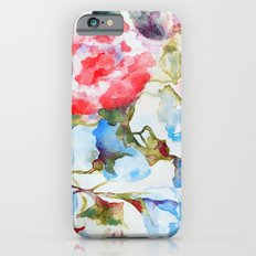 Peonies and Morning Glory iPhone 6s Slim Case