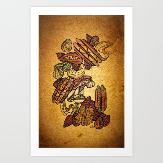 Nut Case Art Print