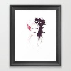 Fashion illustration in watercolors Framed Art Print