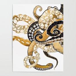 Metallic Octopus Poster
