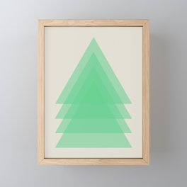 Abstract #15 Green and Beige Framed Mini Art Print
