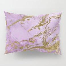 Lavender Gold Marble Pillow Sham
