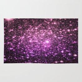 Glitter Galaxy Stars : Pink Lavender Purple Ombre Rug