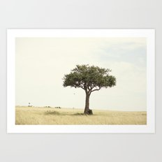 tree hugger::kenya Art Print