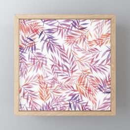Watercolour Ferns | Orange and Purple Framed Mini Art Print