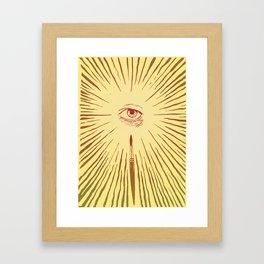 The Man With The Golden Eyeball Framed Art Print