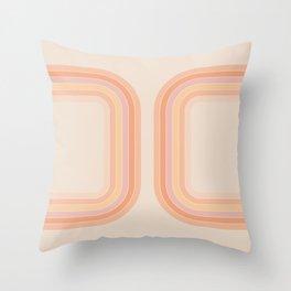 Tangerine Tunnel Throw Pillow