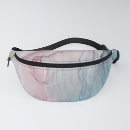 Calming Pastel Flow- Blush, grey and blue Fanny Pack