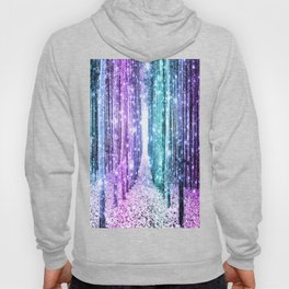 Magical Forest Lavender Aqua Teal Ombre Hoody