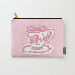 Rose Teacup Printmaking Art Carry-All Pouch