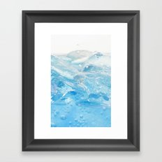 Ice and water Framed Art Print
