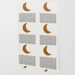 Moon by the ocean Wallpaper