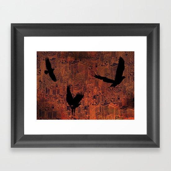 Ecotone (night) Framed Art Print