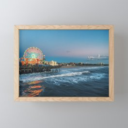 Wheel of Fortune - Santa Monica, California Framed Mini Art Print