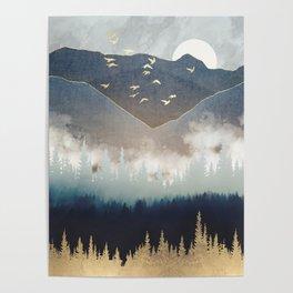 Blue Mountain Mist Poster