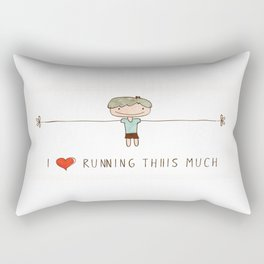 I love running boy Rectangular Pillow
