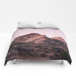 Desert Landscape at Magic Hour Comforters
