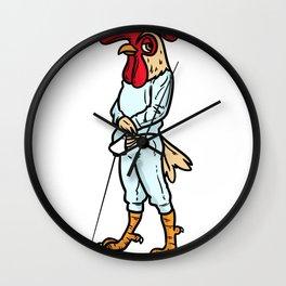 Fencing Gift Sabre Sword Foil Martial Arts Wall Clock