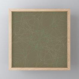 LIGHT LINES ENSEMBLE MARTINI OLIVE-1 Framed Mini Art Print