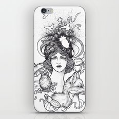 Lady and the Fox iPhone & iPod Skin