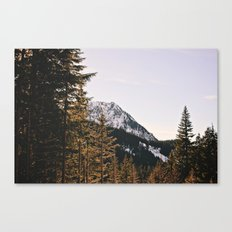 Snow Mountain in the Trees Canvas Print