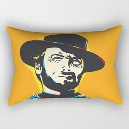Clint Eastwood Pop Art Portrait Rectangular Pillow