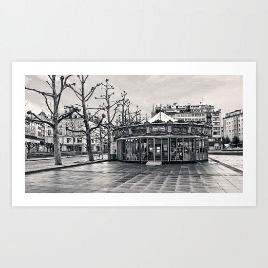 Limoges Carousel Art Print